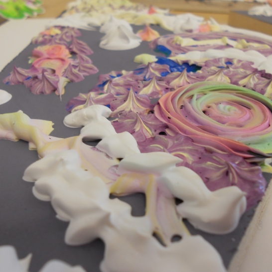 Piping Experiment--with gesso slushie