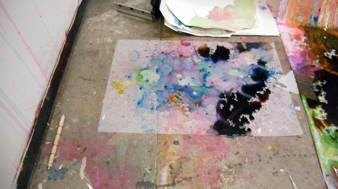 mylar spit painting